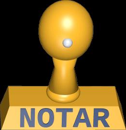 Icon 3D Grafik Notar Stempel
