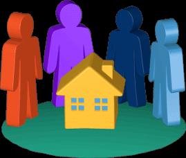 Icon 3D Grafik Haus Immobilie Grundstück Eigentümer