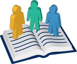 Grafik Icon 3D Grundbuch drei Eigentümer