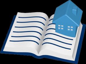 Grafik 3D Icon Grundbuch Immobilie Haus