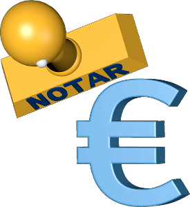 Icon 3D Grafik Notar Stempel Eurosymbol