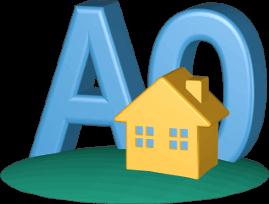 3D Icon Grafik Tätigkeit Immobilienmakler A und O Immobilie