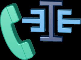 Grafik Icon 3D Logo Immoeinfach Telefonhörer