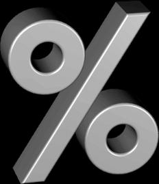 3D Icon Grafik Prozentzeichen