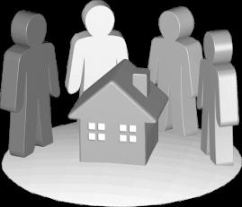 Grafik Icon 3D Haus Immobilie Grundstück Erben