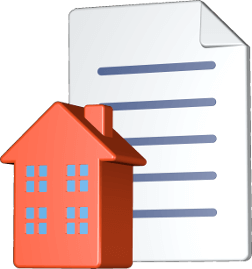 Grafik Icon 3D Mehrfamilienhaus Dokument