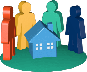 3D Icon Grafik Haus Immobilie Grundstück Erben