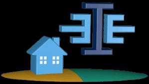 Icon 3D Grafik Haus Grundstück Logo Immoeinfach.de