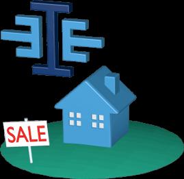 immoeinfach logo Haus Grundstück SALE-Schild