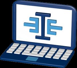 Icon 3D Grafik Logo immoeinfach.de Laptop