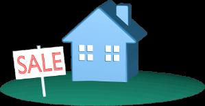 Icon 3D Grafik Haus Immobilie Grundstück Schild SALE zu Verkaufen