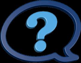 3D Icon Grafik Sprechblase Fragezeichen