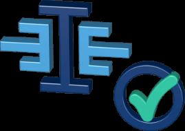 Grafik Icon 3D Logo Immoeinfach Checkbox