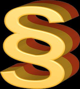 Icon Grafik Paragrafenzeichen Gesetze