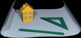 3D Grafik Bauplan Architektur