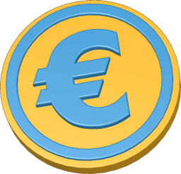 3D Icon Grafik Euro Münze Geld