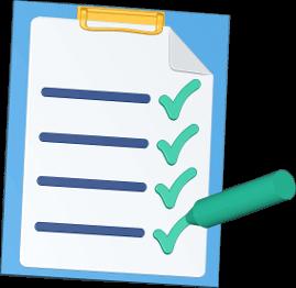 3D Icon Grafik Checkliste Klemmbrett