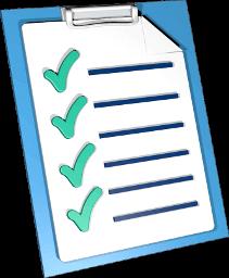 Grafik 3D Icon Checkliste