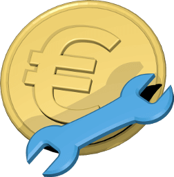 3D Icon Grafik Geld Euro Werkzeug