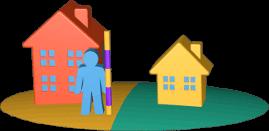 3D Icon Grundstücke Immobilien