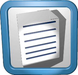 3D Icon Dokument