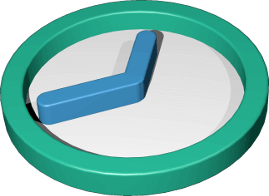 Icon 3D Grafik Uhr Zeit