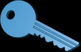 Icon 3D Grafik Schlüssel Untervermietung