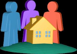 3D Grafik Icon Haus Grundstück Immobilie Eigentümer