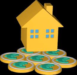 3d Grafik Icon Haus Immobilie Geld