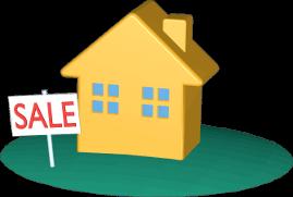 3D Grafik Icon Immobilie Haus Grundstück Verkauf