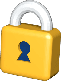3D Icon Grafik Sicherheitschloss