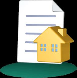 3d Icon Grafik Haus Immobilie Dokument