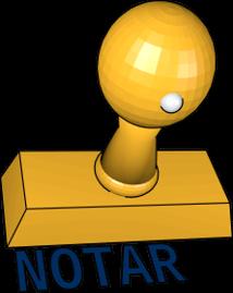 3D Icon Grafik Stempel Notar Vollmachtsurkunde