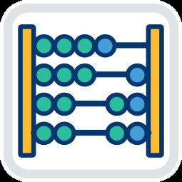Grafik Icon Abakus Berechnung