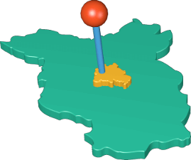 3D Icon Grafik Berlin Brandenburg Karte