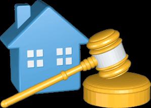 3D Grafik Icon Haus Immobilie Versteigerung