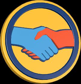 Grafik Icon Hände schütteln