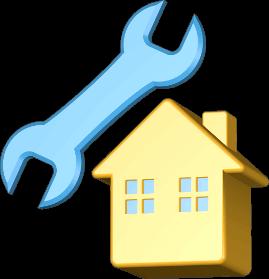 Grafik Haus Immobilie Schraubenschlüssel Werkzeug