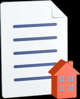 Grafik 3D Icon Dokument Haus Immobilie