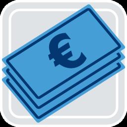 2D Grafik Icon Geld Scheine Euro