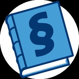 Grafik Icon Gesetzbuch Recht dienstbarkeit