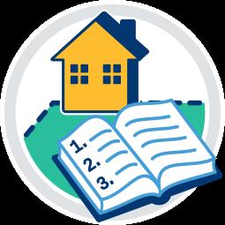 Grafik Icon Haus Grundstück Immobilie Grundbuch