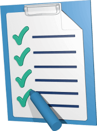 Icon 3D Grafik Checkliste Klemmbrett