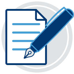 Grafik Icon Dokument Füllfederhalter Stift