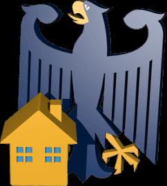 3D Grafik Icon Bundesadler Immobilie Haus