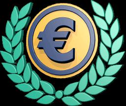3D Icon Grafik Geld Euro Lorbeerkranz