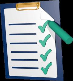 Checkliste Klemmbrett