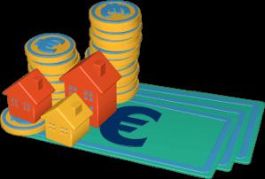 Immobilien Geld geldschein umsatz