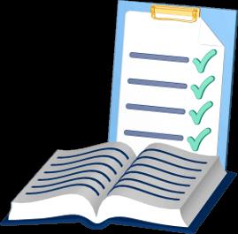 Grundbuch Checkliste Klemmbrett