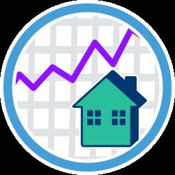 Immobilie Haus Graph Kurve